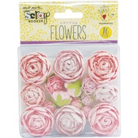 Mont Marte Scrapbooking Flowers - English Roses Small Pink 16pce For Scrapbook Craft