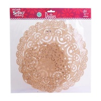 Mont Marte Scraping Doilies - Mixed Round 10x10 to 7x7 Inch 2pce