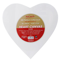 Mont Marte Heart Shaped Canvas 30cm or 40cm