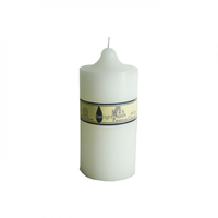 117 Hour Twilight Church Candle - 9cm x 20cm. Smokeless & Lead Free.