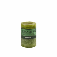 Spice of India 5x7.5cm Pillar Candle - Cannabis