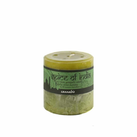 Spice of India 7x7.5cm Pillar Candle - Cannabis