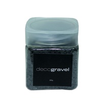 Black 900g Deco Gravel Coloured Rocks 3 x 300g Tubs with Screw Lid