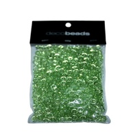 2 x 100g Packs Green Round Beads 5mm Diameter and 2mm Thick Acrylic GMB041GR
