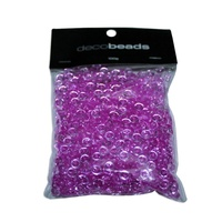 2 x 100g Pink Round Beads 5mm Diameter and 2mm Thick Acrylic GMB041FU