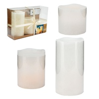 Premium Real Wax LED Candles in White Extra Long Lasting Globes