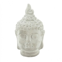 25cm Cement Buddha Head for Home & Garden