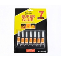 7pce Tubes of 3g Super Glue, Extra Strong