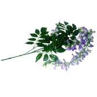 1pce 90cm Hanging Flower Bunch with Leaves with Cream and Move Colours