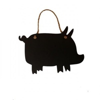 24cm PIGLET PIG Blackboard, hanging by rope (Smaller Design)