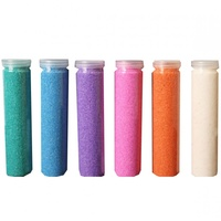 6 pce x 700gram (Assorted Colours) Premium 1-2mm Acrylic Crystal Sand Tube, Wedding Cand Cermonies
