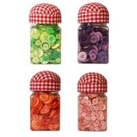 150g of Colour Buttons, Mixed Sized, Craft/Sewing with Pin Cushion Lid