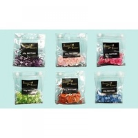6 x 60g Packs of Assorted Colours / SizesButtons in seperate pvc bags