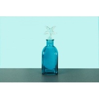 3pce 13cm Glass Blue Bottle with Star Fish Stopper, Water, Wine Decanter OD1072