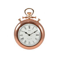 36cm Vintage Style Copper Wall Clock, Paris Style, Absolute Chic
