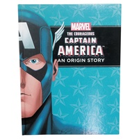 "Marvel Superheroes ""An Origin Story"" Hardcover Book A4, Kids Reading & Fun Comics-Captain America-Thor"