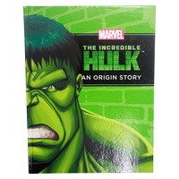 "Marvel Superheroes ""An Origin Story"" Hardcover Book A4, Kids Reading & Fun Comics-Hulk"