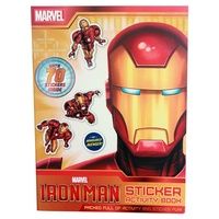 Marvel Superhero Iron Man Story / Sticker Activity Book, Kids Reading & Fun Comics-Sticker Activity Book