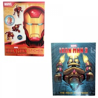 2pce Marvel Superhero Iron Man Story / Sticker Activity Book, Kids Reading & Fun Comics