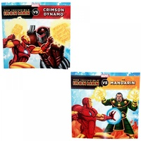 2pce Marvel Superhero Iron Man Defeat Villains Story Books, Kids Reading & Fun Comics