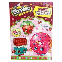 Shopkins Deluxe Colouring In And Activity Book, Kids Fun For Girls, 48 Pages