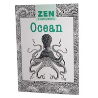 OCEAN - Zen Colouring, by GMC Adult Therapy Colouring In Book Premium Quality