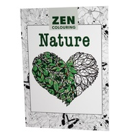 NATURE - Zen Colouring, by GMC Adult Therapy Colouring In Book Premium Quality