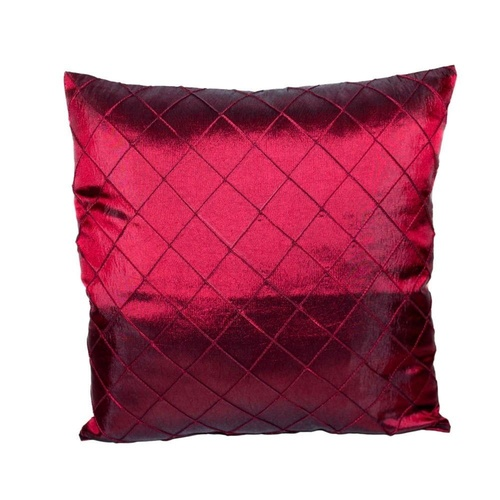 40x40cm Burgundy Classic Dimond Cushion Cover with Insert