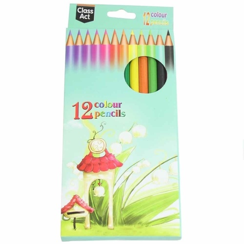 4 x Packs of 12 Kids Colour Bright Colour Colouring Pencils Drawing MQ-001