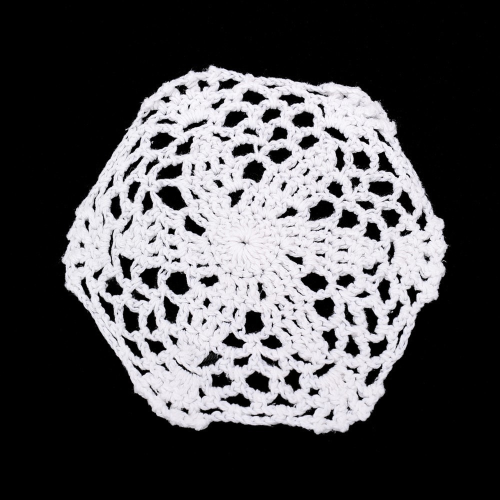 12pce White Cotton Crochet Doily Diy Home Decor Bulk Value