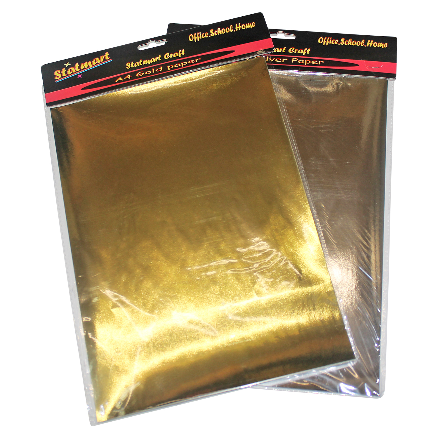 10pce A4 Metallic Silver Or Gold Craft Paper 80gsm Sheets