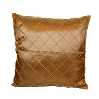 40cm Cushion Cover Decor Polyester Assorted Designs (No Insert) [Beige Diamond Pattern]