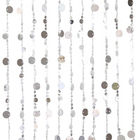 1pce 80x170cm Beaded Door Curtains Retro Silver Disk Design