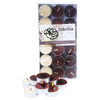 1 Pack of 36pce Vanilla Scented Tealight Candles 4 Hour Burning Time