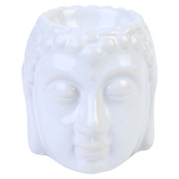 1pce 8.5cm Buddha Oil Burner White Glazed Ceramic