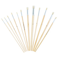 12pce Round Painting Brushes in Pack Suitable Watercolour or Acrylic