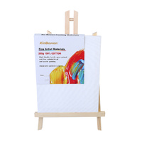 1pce 20cm x 25cm Single Thick Artist Canvas with Matching Pine Easel