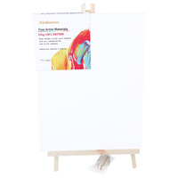 1pce 30cm x 40cm Single Thick Artist Canvas with Matching Pine Easel