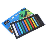 12pce Soft Pastels In Boxed Packaging 12 Bright Colours