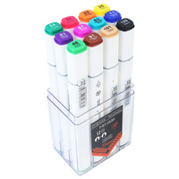 12pce Dual Nib Marker Alcohol Based Assorted Colours