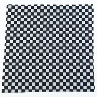 1pce Bandana 54x54cm Checkered Flag Black and White Large Formula 1