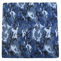 1pce Bandana 54x54cm Army Camouflage Design Blue / Grey Design
