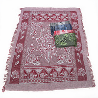 1pce Purple Boho Throw Rug / Table Cloth / Picnic / Camping Blanket 180x200cm