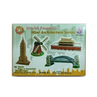 3D Jigsaw Puzzle Game Mini Architecture Series Kids Family Famous Landmarks