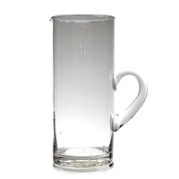 26cm Clear Glass Water Pitcher / Jug in a modern style 1500mls or 1.5L MQ194