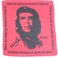 Bandana - Che Guevara Black and Red Design 2 100% Cotton 55x55cm
