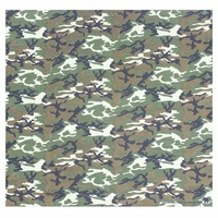 Bandana - Green Army / Military / Camouflage Style 2 100% Cotton 55x55cm