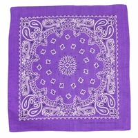 Bandana - Deep Purple Traditional Nautical Paisley 100% Cotton 55x55cm