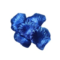 240 Metallic Blue Rose Petals 5x5cm, Weddings, Valentines Day, Party Theming