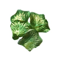 240 Metallic Green Rose Petals 5x5cm, Weddings, Valentines Day, Party Theme
